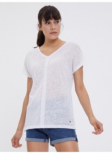 Loft Loft LF 2022845 White W Tss T-Shirt Beyaz